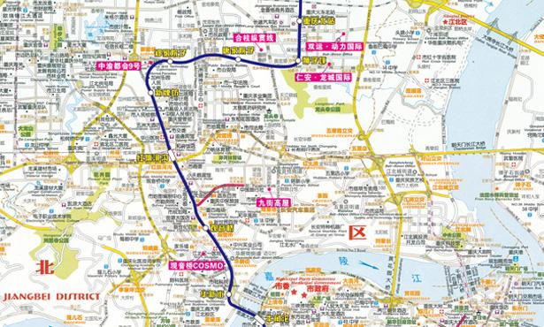 重庆轻轨3号线 南坪到园博园怎么去图片