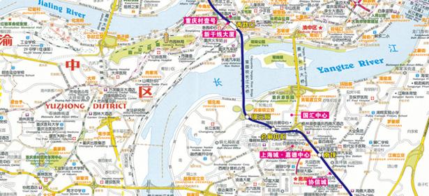 轻轨3号线的开通给重庆楼市注入了一剂兴奋剂 高清图片