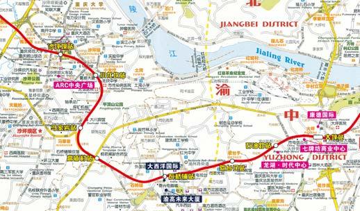 重庆轻轨6号线线路图图片